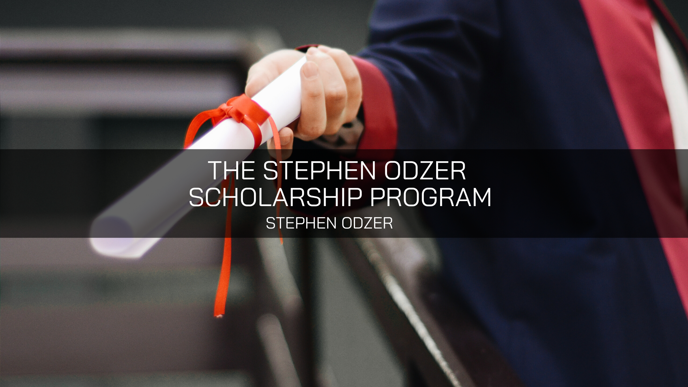 The Stephen Odzer Scholarship Program is Steven Odzer's Latest Project